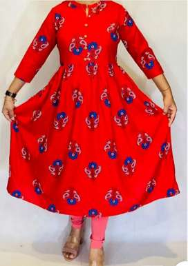Flared Kurta Cash On delivery New Fashion