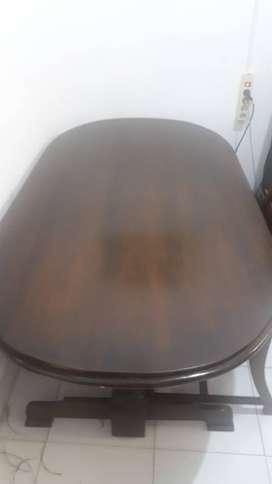 Meja makan Jati 6 kursi