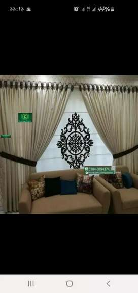 Curtains and Wallpaper in Lahore buy and get free fittings