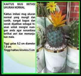 Tanaman Kaktus Mini Plastik Bunga Artificial Dekorasi