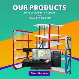 Rak Besi Gondola Toko, Rak Minimarket, Supermarket, Arsip, dan Gudang