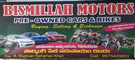 Bismillah MOTORS PONNUR Pre owned Cars and Bikes & Parking Sale