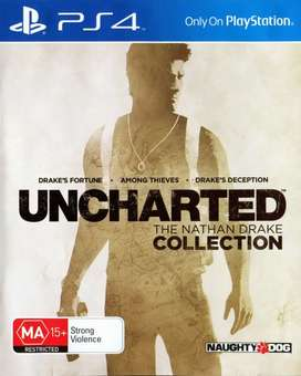 Uncharted 1,2 and 3 PS4 for sale or exchange