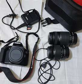 Canon 1300d for rent with long and short lenses hd quality
