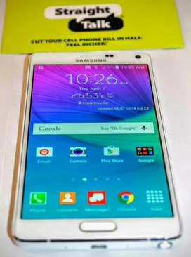 Samsung Note 4 pta approved  long battery lush condition no exchange