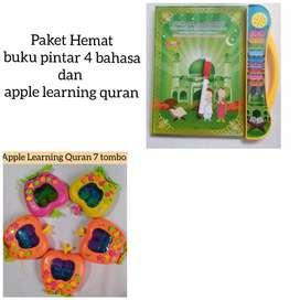 Paket hemat buku pintar 4 bahasa dan apple quran