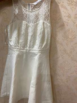 Forever new cream colour frock