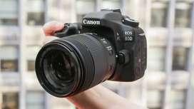 Kredit Kamera Canon 80D Dp 1,450 Free 1x Angsuran