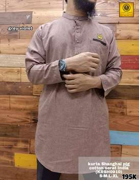 Gamis Kurta Shanghai Cotton Serat India / Gamis Kurta Muslim Original