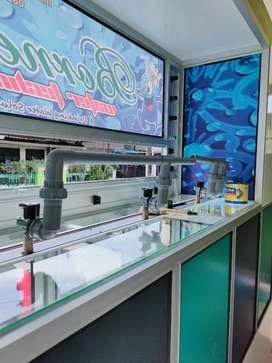 Depot air minum isi ulang galon siap pasang