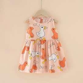 Dress print anak perempuan