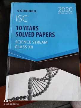 ISC solved papers class 12th(science stream)