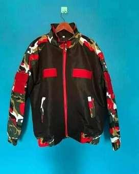 Jaket taslan tactical loreng laskas merah putih