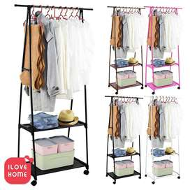 Triangle Cloth stand different types of children racks. When putting i