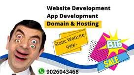 Website Development, Android & IOS App Developer @best Price Guarantee