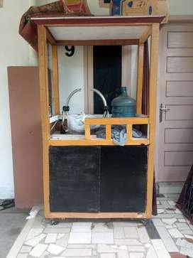 Jual cepat Gerobak kayu thai tea baru bisa nego