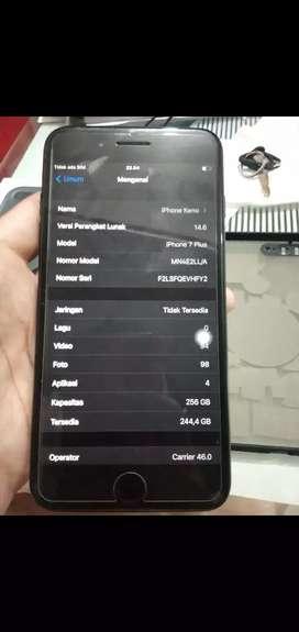 Iphone 7 plus 256gb fullset no minus terima tt hp dibawahnya
