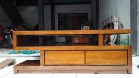 Meja tv minimalis S kode C535 wood