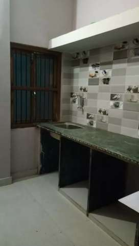 1 BHK second floor semi furnished house available for rent