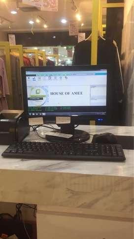 Komputer / mesin kasir Toko Baju