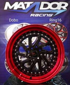 VELG HSR RING 16X8/9 TYPE DOBO BK/RED