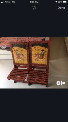 Antique chairs with beautiful handicraft work