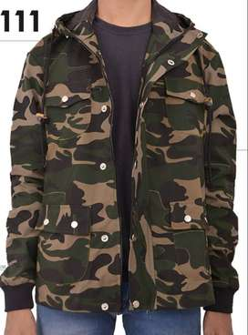 Jaket Parka Army Unisex with Black Elbow – SK111