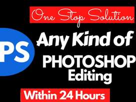 I will do any Graphic Designing and Photoshop work with in 1 hour