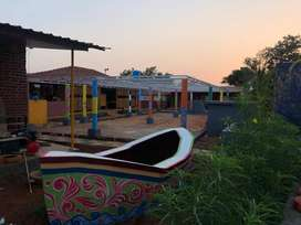 Well maintained Running Farmhouse cum resort for sale in karjat.