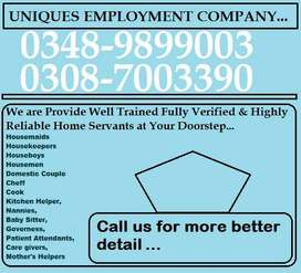 The UNIQUE-HOME SERVANTS R Fully Trained & Verified at Your Doorstep