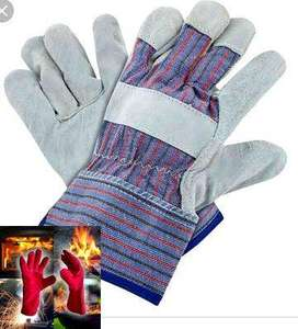 Working double palm Labour gloves safety hand construction tillman lea