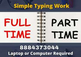 Anyone can apply. Work from home typing work. Daily 1000 payment