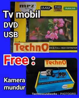 MRZ TV mobil 7 in DVD mp4 + kamera mundur head unit for paket sound