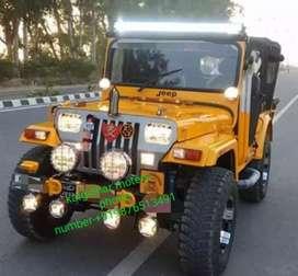 Yellow modified jeep
