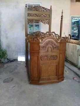 Mimbar masjid kubah kayu jati mimbar ceramah masjid