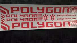 Stiker sepeda transparan polygon