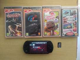 Sony psp with 18 games and 16gb memory card