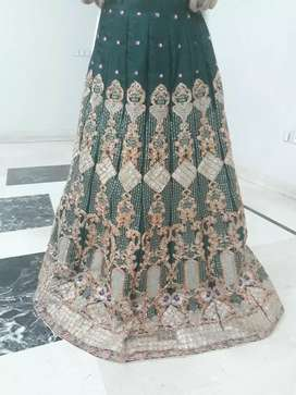 Lovely green embroidered