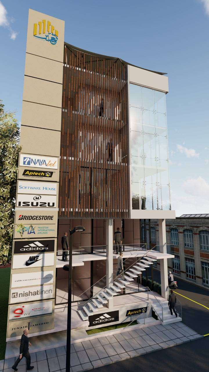 Corner Largest Office of Commercial Plaza in Mumtaz City 0