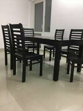 Wooden Table with 6 chair