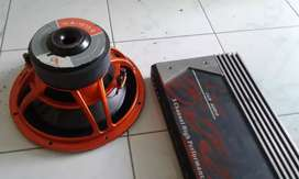 Sub 12in cityaudio dan power ampli 5ch LANZAR