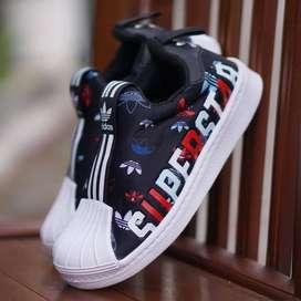 ORIGINAL Adidas Superstar Sepatu Anak Kids Kid Laki-laki Slip On BNWB