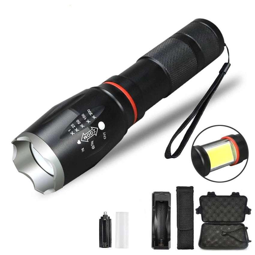 Paket Senter LED Torch Cree XM-L T6 8000 Lumens + Charger + Box - E17 0
