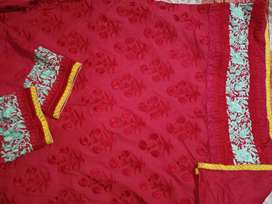 Slightly used heavily embroidered shirt from Khaadi