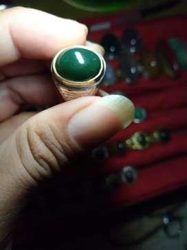 Cincin batu hijau garut,