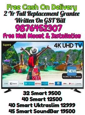 40 Full HD Led Tv 2 Yr Rrplacement Grantee GST Bill