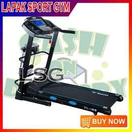 Alat Olahraga Fitness Treadmill Elektrik TL 138 Auto Incline