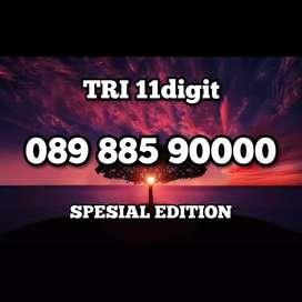 Nomor cantik spesial edition TRI 11 dgt angka kwarted minimalis 90000