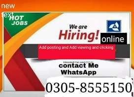 Urgent hiring for part time jobs.
