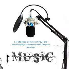 Paket Recording Broadcast dengan Mic Condenser BM800 + Stand + Filter